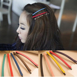 Wholesale Candy Clips - Wholesale-Cute candy colored frosted acrylic hairpin clip hair accessories wholesale word