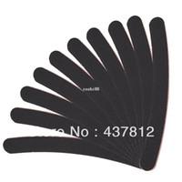 siyah tırnak törpüsü dosyaları toptan satış-Toptan 30 adet Büyük Uzun Profesyonel Crescent Art Grit Siyah Zımpara Dosya Nail Art İpuçları Manikür için Tırnak Dosyaları