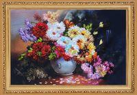 florero hecho a mano florero al por mayor-3D Inacabado Impreso DIY Patrones de Costura Kits Para Cintas Hechas A Mano Conjuntos de Bordado-Hermoso Florero Envío Gratis
