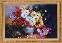 freie stickmuster drucken großhandel-3D Unfinished Printed DIY Handmuster Kits für Handgemachte Bänder Stickerei Sets-Schöne Blumenvase kostenloser versand