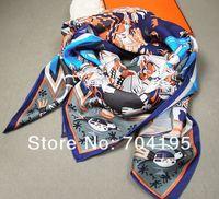 Wholesale Womens Square Scarf - Fashion Silk Square Scarf Silk printed Scarves Silk Womens big shawls.130cm*135cm