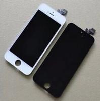 iphone 5g белый оптовых-Передняя сборка ЖК-дисплей для iPhone 5 5G GSM с сенсорным экраном Digitizer замена черный белый DHL свободный корабль