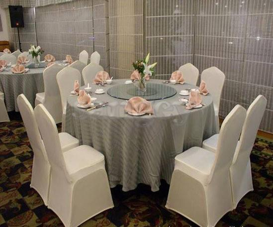 Universal White Wedding Banquet Folding Polyester Spandex Hotel Quality Chair Covers with 4 Pockets