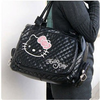 Wholesale Kitty Tote Bag - Wholesale-2012 handbags Shoulder Bags for women Hello Kitty white tote  shoulder bag purse PU Zipper Free shipping HK0012