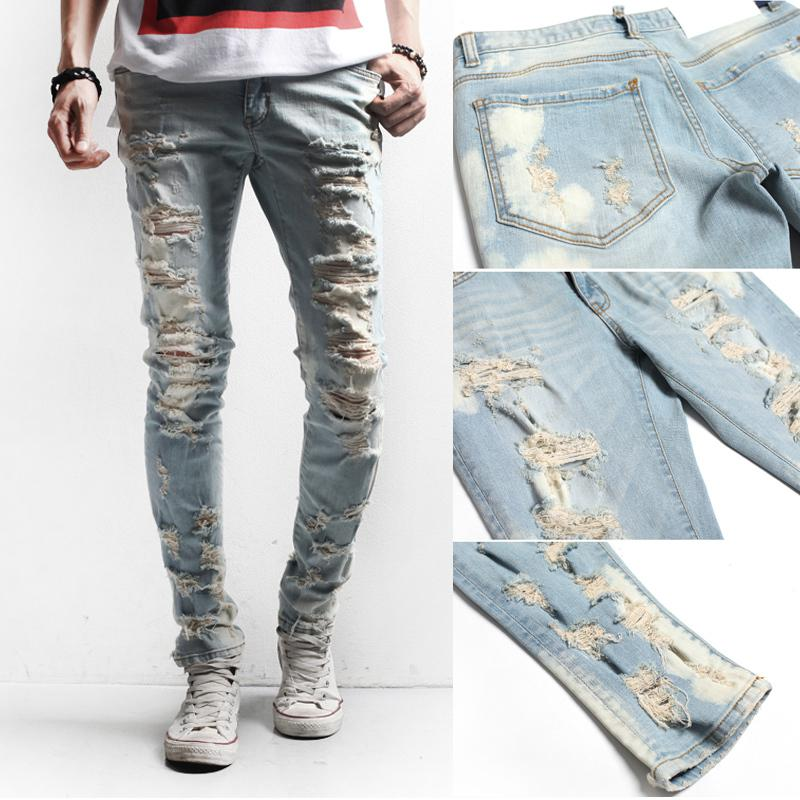 Men's Jeans 2014 Fashion Brand Designer Jeans Men Distrressed ...