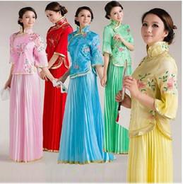 blaue paillettengürtel Rabatt Frau Zheng Xiao Fengxian Republikaner passte Kostümkleidung in alten Kostümen, die Tanzkleidung Brautjungfernkleid durchführen