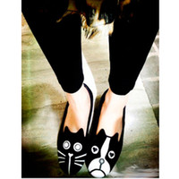 Wholesale Dog Velvet Shoes - European Grand Prix 2013 summer retro MJ cat dog with money personality singles shoes velvet flat heels shoes Carrefour