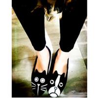 Wholesale Cat Dog Velvet Shoes - European Grand Prix 2013 summer retro MJ cat dog with money personality singles shoes velvet flat heels shoes Carrefour
