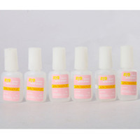 Hot selling 6pcs Lot Tips Nail Art 10g BYB NAIL GLUE with brush For False French