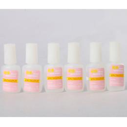 Wholesale Nails French Brush - 6pcs Lot Tips Nail Art 10g BYB NAIL GLUE with brush For False French