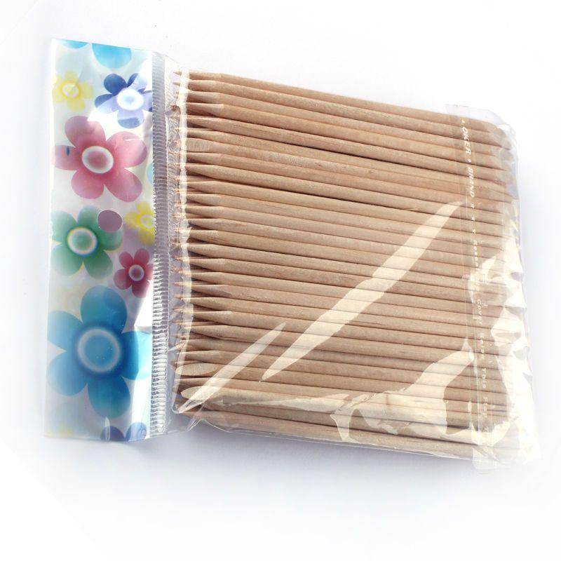 100x الخشب عصا مسمار فن uv gel nail البولندية مانيكير باديكير reomver أداة GT01