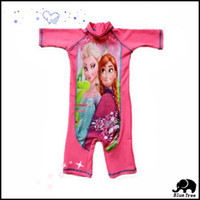 protection uv protection des filles achat en gros de-Détail enfants filles enfants Frozen Elsa Anna 3-10t protection UV Sunsuit Maillots Plage Surf Rash gardes Vêtements