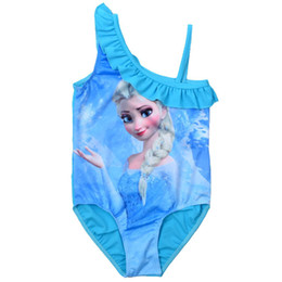Wholesale Boys Bathers - 5 pcs lot Free shipping In Stock NEW FROZEN Elsa Girls One-Piece Summer Swim Wear Swimmer Bather Swimsuit Tutu Swimwear Dresses