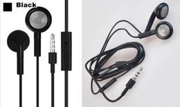 Wholesale Mp3 Mp4 Player Nano - Wholesale-Free shipping 1pcs 3.5mm In-Ear Earphone Headphone with Mic For apple iPhone 5S 5 5C 4 4S 3GS I nano Ipad air MP3 MP4 Player