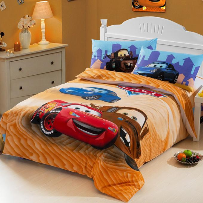 Race Car Kids Boys Bedding Comforter Set Twin Size Cartoon ...