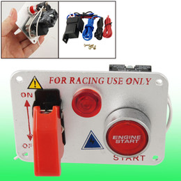 Wholesale Race Ignition - Racing Car 12V Ignition Switch Panel Engine Start Push Button Red LED Toggle