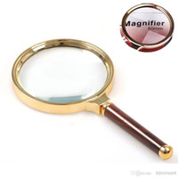 Wholesale Big Magnifier - S5Q 90mm Handheld 10X Magnifier Magnifying Big Glass Lens Loupe Readinge Jwelry AAADVD