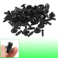 Wholesale Plastic Rivet Fender - Auto Car Door Fender 8mm Hole Push in Plastic Rivets Fastener Black 50 Pcs