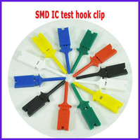 Wholesale Test Hook Clip Probes - 12pcs mini grabber SMD IC Chip test hook clip jumper probe for logical analyzer FREE SHIPPING