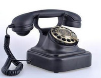 Wholesale Phones Landline - Free shipping cored retro telephone vintage landline Paramount 1928 rotary dial telephone bell antique metal archaize phone