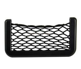 Wholesale Automotive Organizers - Wholesale-3pcs lot Fashion car storage 15X8cm Automotive Bag With Adhesive Visor Car Net Pack Organizer Pockets Net b11 10710