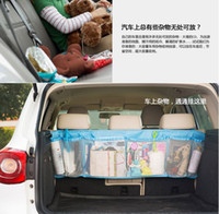 Wholesale Trunk Cargo Net For Cars - Wholesale-High Capacity Car Cargo Storage Net bag cargo net,car trunk rear seat bag organizer car accessories car styling for SUV