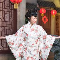 Wholesale Sakura Dress - Japanese kimono bathrobe Sakura Samurai clothing female models nightclub dress uniform temptation costumes