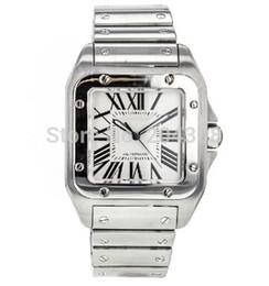 Argentina Marca nueva AAA de calidad superior Men's100 XL acero inoxidable pulsera de lujo movimiento de cuarzo relojes de pulsera para hombre reloj deportivo cheap xl watches men Suministro