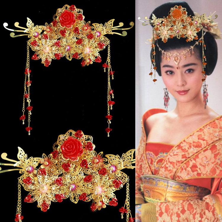 Headdress Hair Accessories Wedding Bridal Costume of Ancient