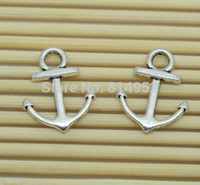 Wholesale Antique Silver Retro Anchor Charms Jewelry Pendants mm Handcrafted Bracelet Connectors