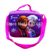 Wholesale Thermal Box Free Shipping - Free shipping New 2014 FROZEN Lunch Bag Frozen Princess ELsa Olaf Anna Lunch Box for Kids Lunchbag Thermal Lunchbox for Girls