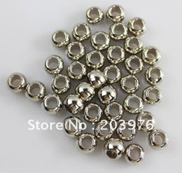 Wholesale Gold Scarf Pendants - Wholesale-Silver Gold Bronze color CCB material Big hole beads for Jewelry Scarf pendant 300 pcs lot