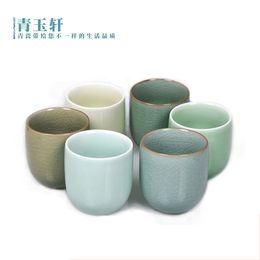 Wholesale Tea Vacuum Cup - Wholesale-multi-colors celadon cup tea set vacuum cup ceramic gift japanese style cup free shipping