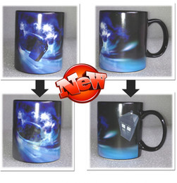 Wholesale Mysterious Box - Wholesale-New Doctor Who Disappearing tardis police box Heat Changing Coffee mug Magic Cup 50 years of adventures Mug Dr Mysterious 529