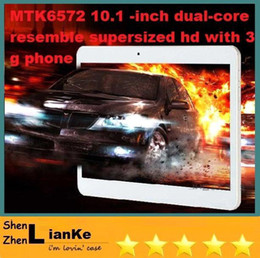 Wholesale Tablet Dual Core 1g Ram - 10inch 3G tablet Phone call tablet mtk6572 dual core Android 4.2 1G RAM 8G ROM with phone call GPS bluetooth Wifi Dual Camera with SIM Card