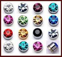 Wholesale Without Piercing Ear Studs - Free shipping 24Pcs (12Pairs) High-quality Simple Magnet Earrings Pierced Ears Without Magnetic Unisex Lovers Stud Earring