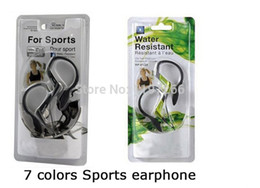 Wholesale Dropshipping Headphones Earphones - Wholesale-1pcs rp-hs33 ear hook sports earphone&headphone water resistant headsets hs33 sports earbuds 7 colors dropshipping Free shipping