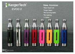 Tanque w online-Original kanger EVOD2 BDC clearomizer 1.6ml evod 2 atomizador kangertech evod2 tanques para ego c ego t ego w batería