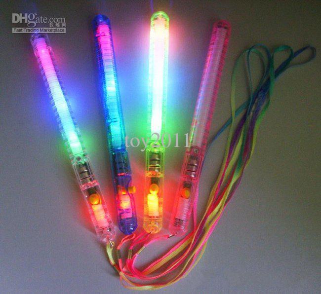 60pcs lots 4 Color LED Flashing Glow Wand Light Sticks ,LED Flashing light up wand novelty toy
