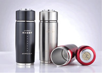 Wholesale Alkaline Water Flasks - Wholesale-Hot 2pcs Alkaline Water Cup Nano Energy Cup Vacuum Flask tourmaline health cup Stainless Steel water cupWith CE RoHS certificate