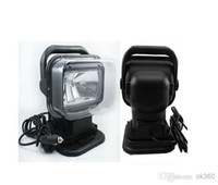 Wholesale Hid 12v Work Lights Kits - 12V 75W HID Xenon Work Light 360 Rotating Searchlight for Boat Car SUV lamp Wireless Remote Control Camping Hiking Fishing Light