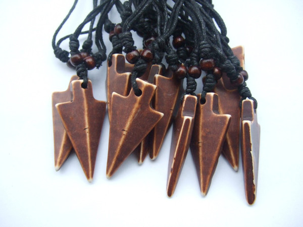 Wholesale 12pcs Native American Style Arrow Head Charm Pendant Chain Necklace Tribal, Surf