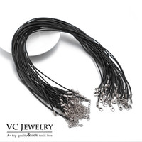 Wholesale Leather Cord Necklaces Jewelry - Necklace Cord for Jewelry findings Interchangeable DIY Accessories 50cm Cow Genuine Leather (VC2-011)