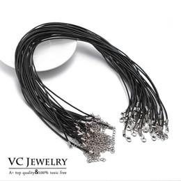 flaches leder für schmuck großhandel Rabatt Halskette Schnur für Schmuckzubehör Austauschbare DIY Zubehör 50 cm Kuh Echtes Leder (VC2-011)