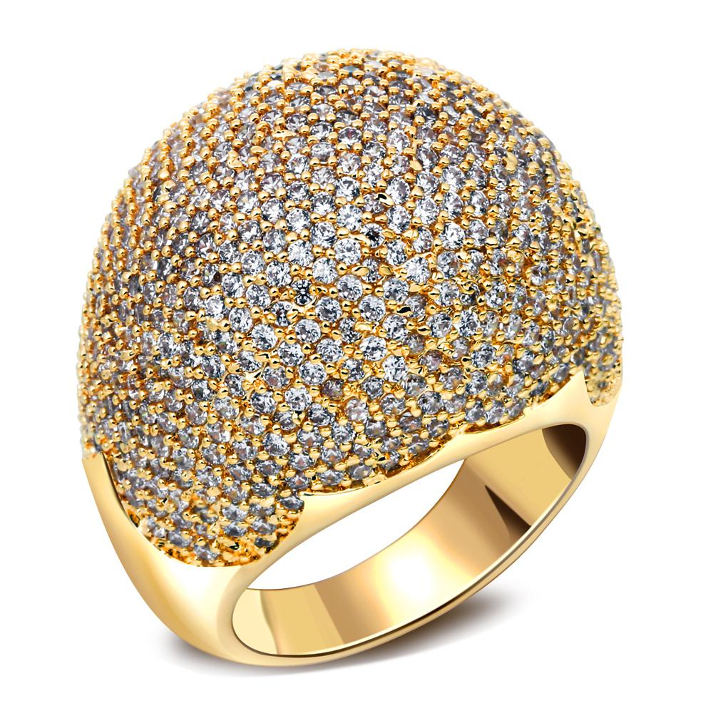 Full stones ring Latest Designs Dome Shape Micro Pave Setting ...