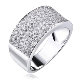Wholesale Famous Engagement Ring - Direct Selling New Arrival Freeshipping Classic Micro Pave Jewelry Ring Plated Famous Design Rings for Women Zircon