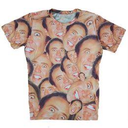 Wholesale Women Cage - Women Men T-shirt Couples Tee Unisex Tshirt Nicolas Cage 3D Novel Digital Print short sleeve T-shirt Tops Casual shirt #8001