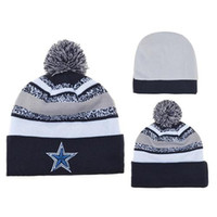 Wholesale Sports Beanies For Sale Cheap - Cowboys Beanies Fashion Sports Beanie Caps Cheap Football Pom Pom Beanies Warm Skull Caps Top Quality Knitting Beanie Hats Team Cap for Sale