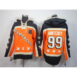 Wholesale Newest Style Mens Hoodies - Campbell Hoodies Brand Hockey Uniform #99 Gretzky Mens Hoodies Hockey Uniform New Style Hockey Sports Jacket Newest Jerseys 2014 Hot Sale