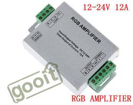 Wholesale 12 led strip lights - RGB AMPLIFIER Controller Signal Amplifier 12-24V 12A For 3528SMD 5050SMD RGB LED Strip Light, dandys